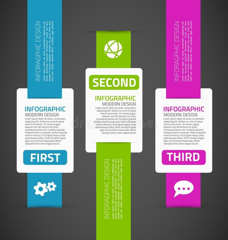 Infographics模板 库存例证