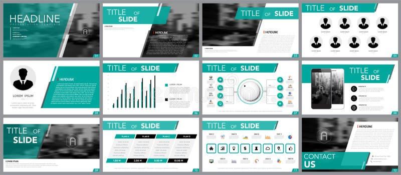 infographics的设计元素介绍模板的 库存例证