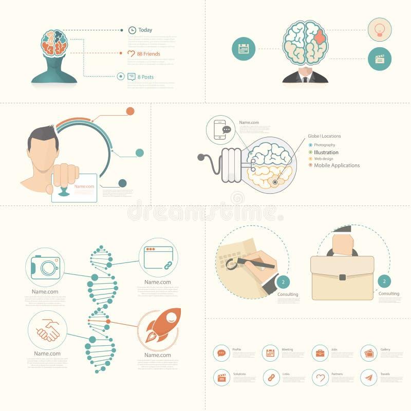 Infographics要素 向量例证