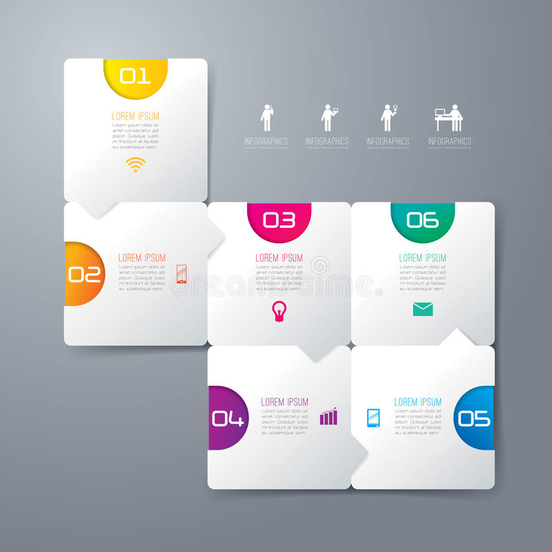 Infographics设计模板。 皇族释放例证