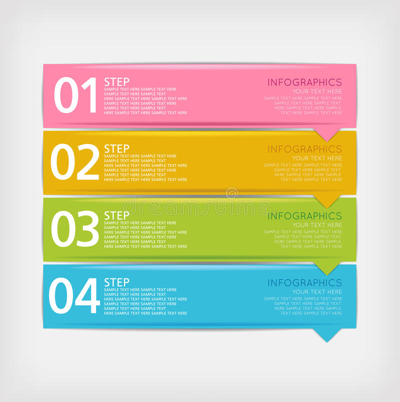 Infographics设计模板 库存例证