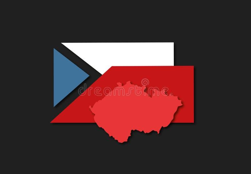 Infographics à l'élection présidentielle dans la République Tchèque accentuant la disparité des électeurs tchèques illustration stock