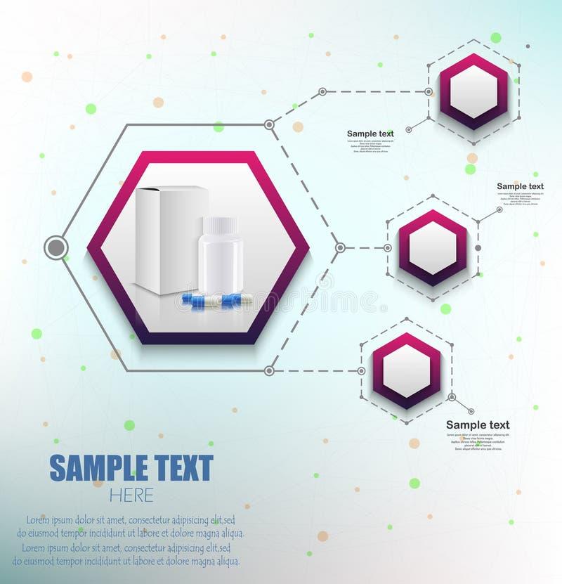 Ιατρικό σχέδιο infographics απεικόνιση αποθεμάτων