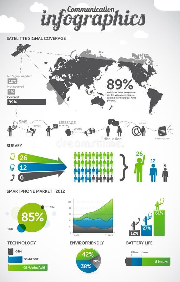 Infographics επικοινωνίας απεικόνιση αποθεμάτων