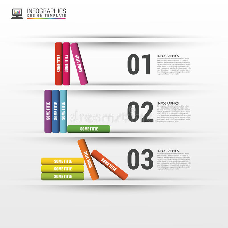 Infographics επιχειρησιακής εκπαίδευσης βημάτων βιβλίων επίσης corel σύρετε το διάνυσμα απεικόνισης απεικόνιση αποθεμάτων