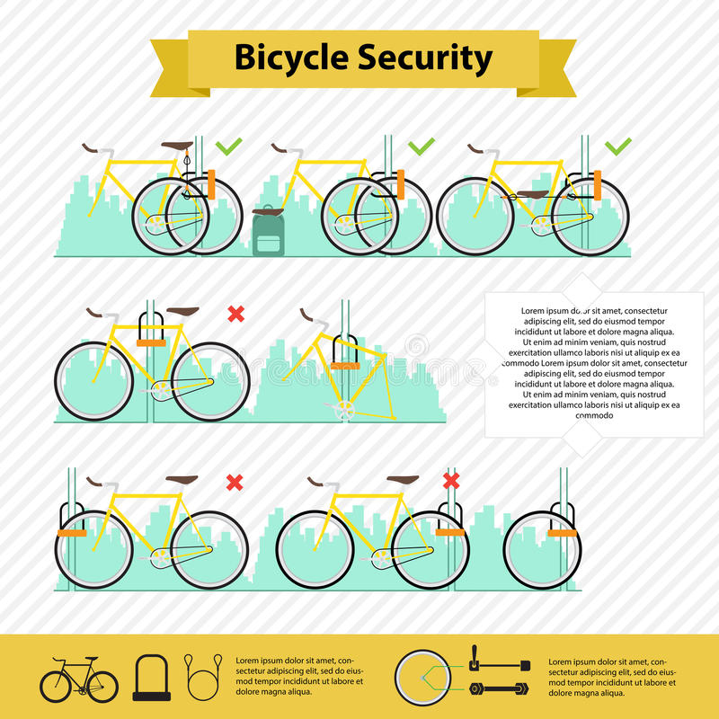 Infographics ποδηλάτων ελεύθερη απεικόνιση δικαιώματος