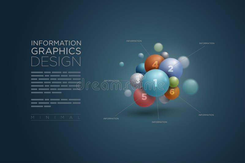 Infographics σφαιρών διανυσματική απεικόνιση