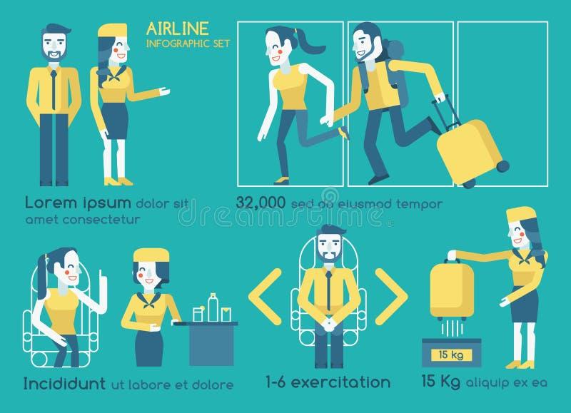 Infographics авиакомпании иллюстрация вектора