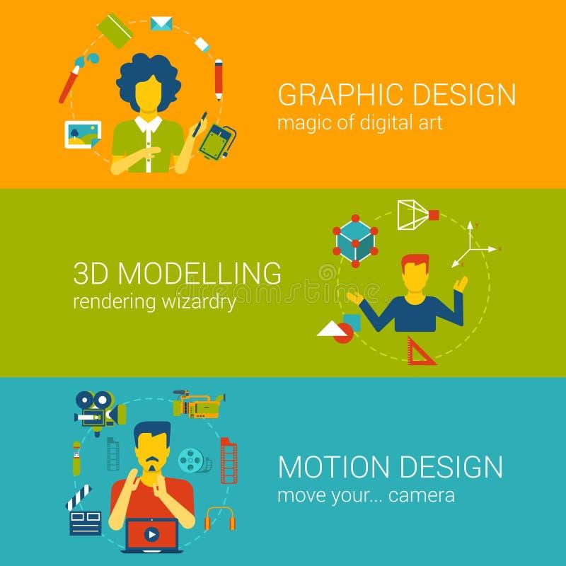Infographics вектора квартиры концепции профессий процесса проектирования установленное иллюстрация штока