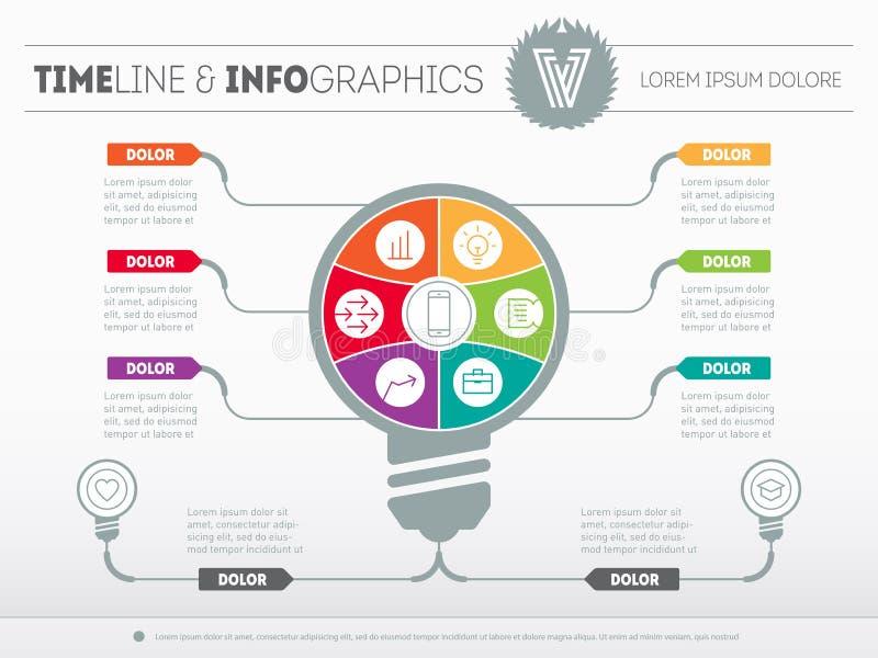 Infographics вектора Концепция дела с 6 вариантами, частями, s бесплатная иллюстрация