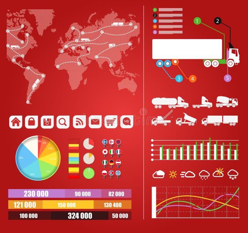 Infographics груза иллюстрация вектора