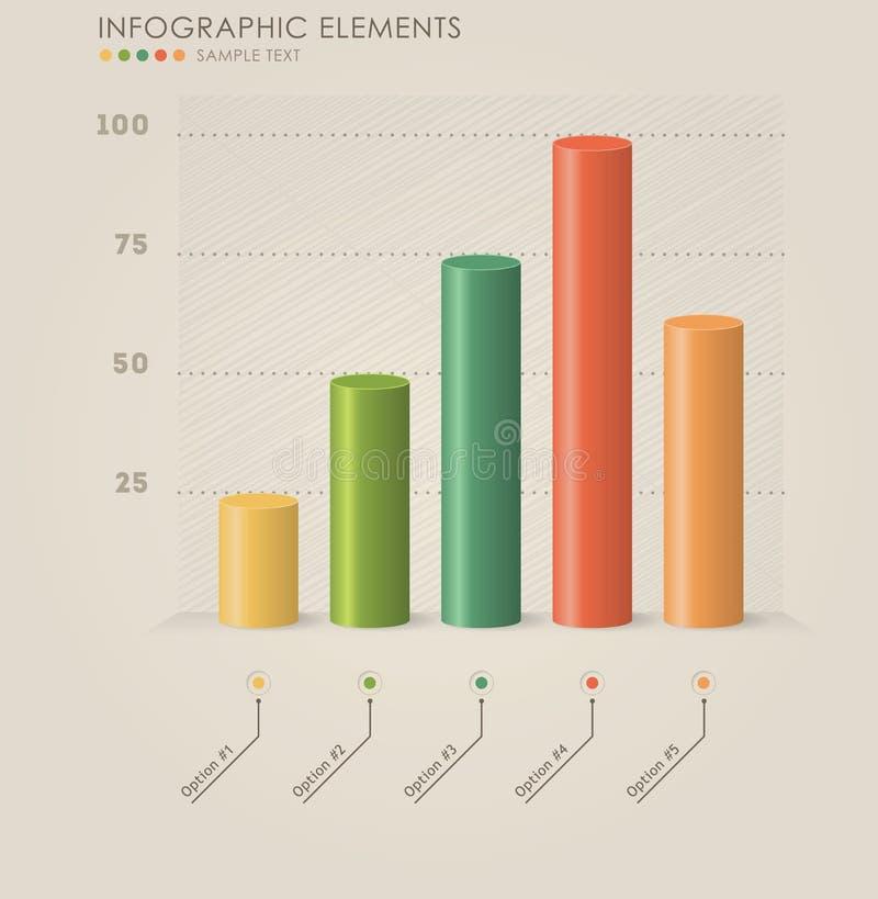 Infographics диаграммы вектора 3d стоковые изображения