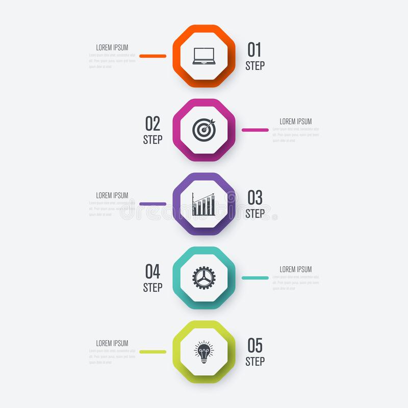Infographics иллюстрации вектора 5 вариантов иллюстрация штока