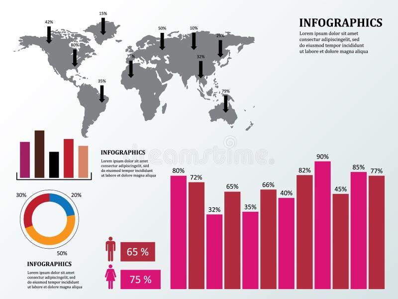 Infographics и дело иллюстрация вектора