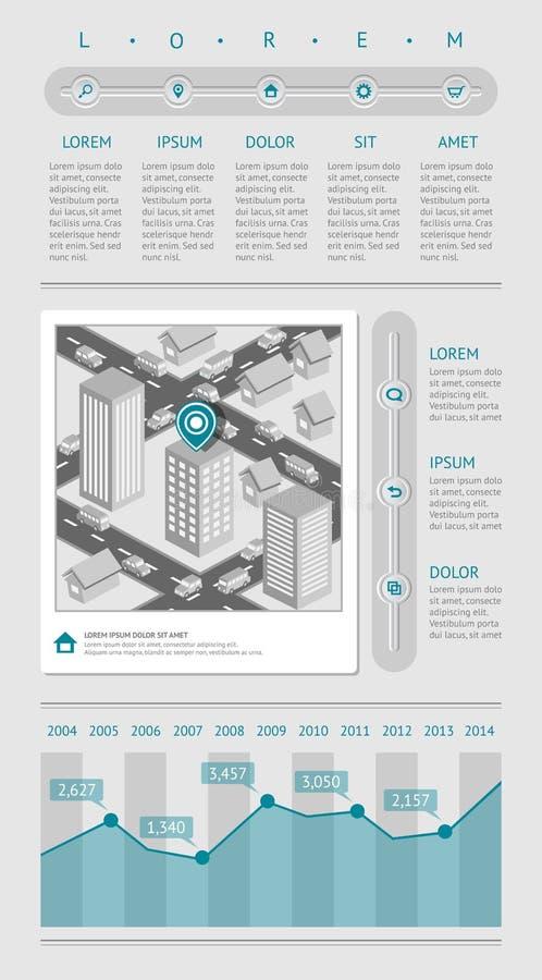 Infographics и элементы паутины Стоковая Фотография RF