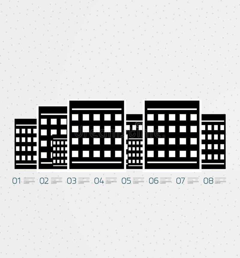 Шаблон infographics недвижимости в ретро типе иллюстрация вектора
