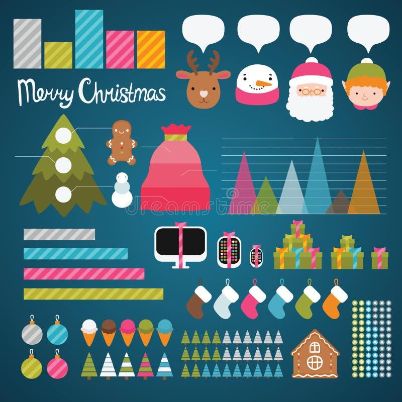 Infographics рождества иллюстрация штока