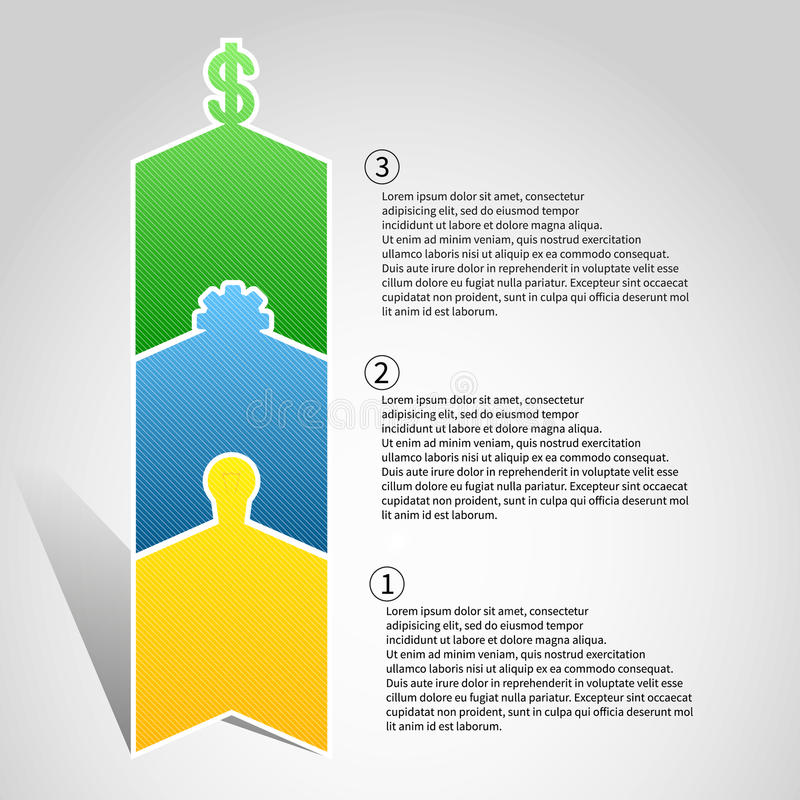 Infographics создавая продукт от идеи к стоковые фото