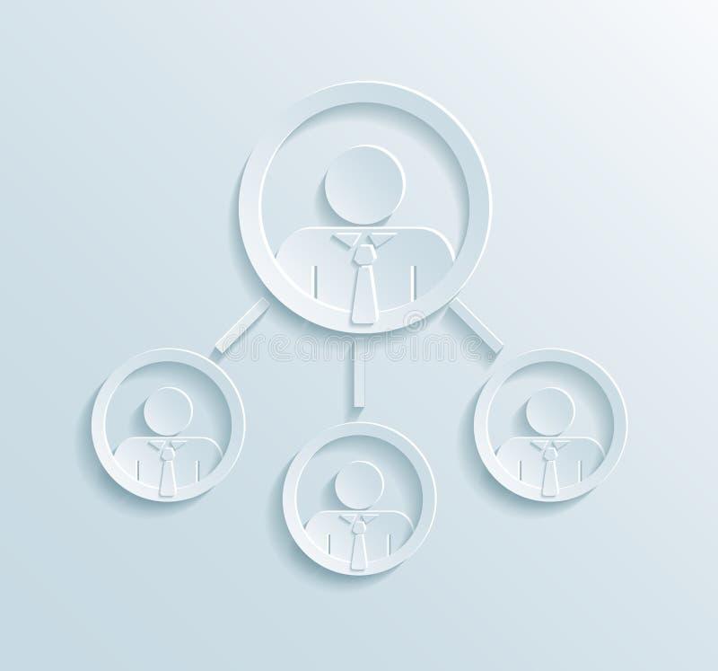 Infographics структуры руководства бизнесом бесплатная иллюстрация