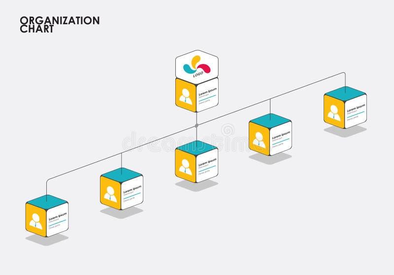 Infographics с деревом, подача организационной схемы диаграммы вектор бесплатная иллюстрация