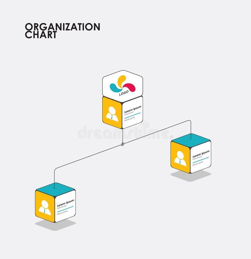 Infographics с деревом, подача организационной схемы диаграммы вектор иллюстрация вектора