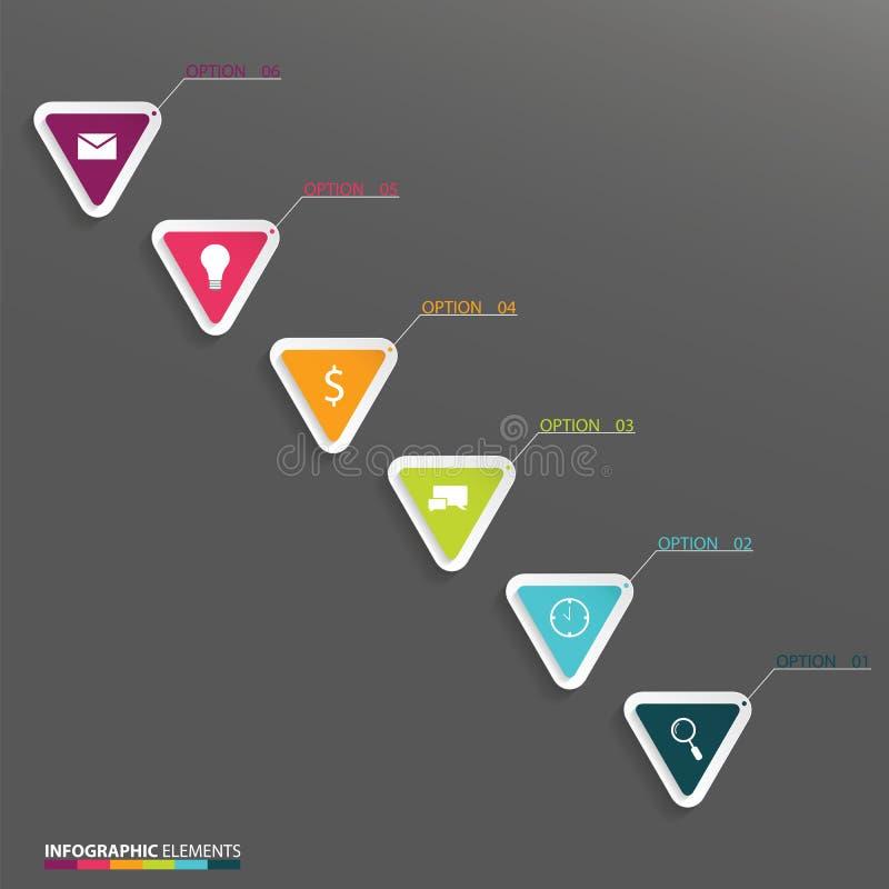 Infographics с треугольниками иллюстрация вектора