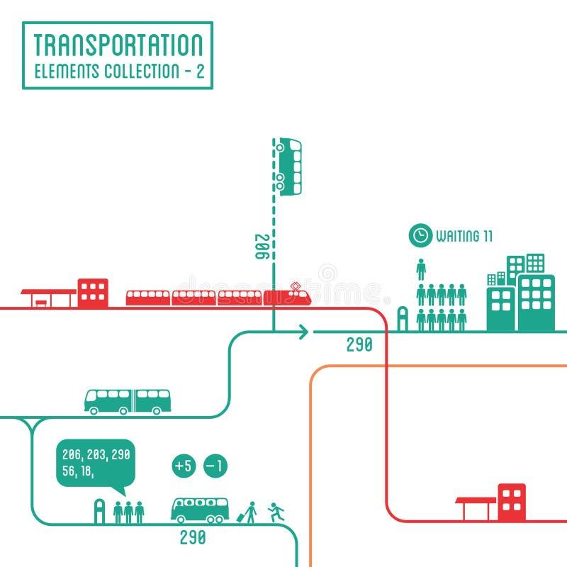 Infographics транспорта бесплатная иллюстрация