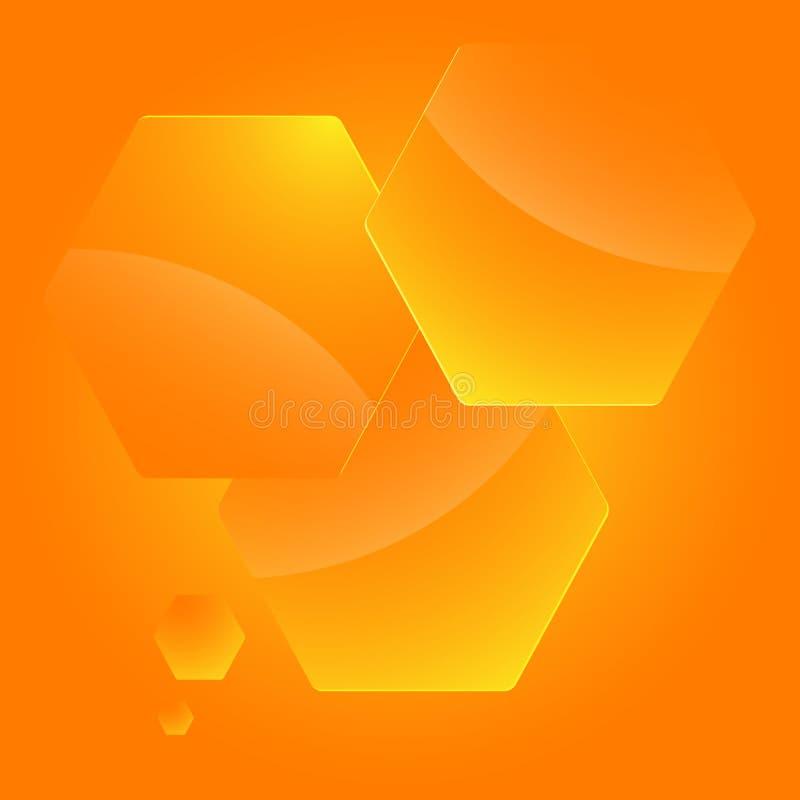 Infographics-шаблон-план-представлени-шестиугольник-пустой иллюстрация штока