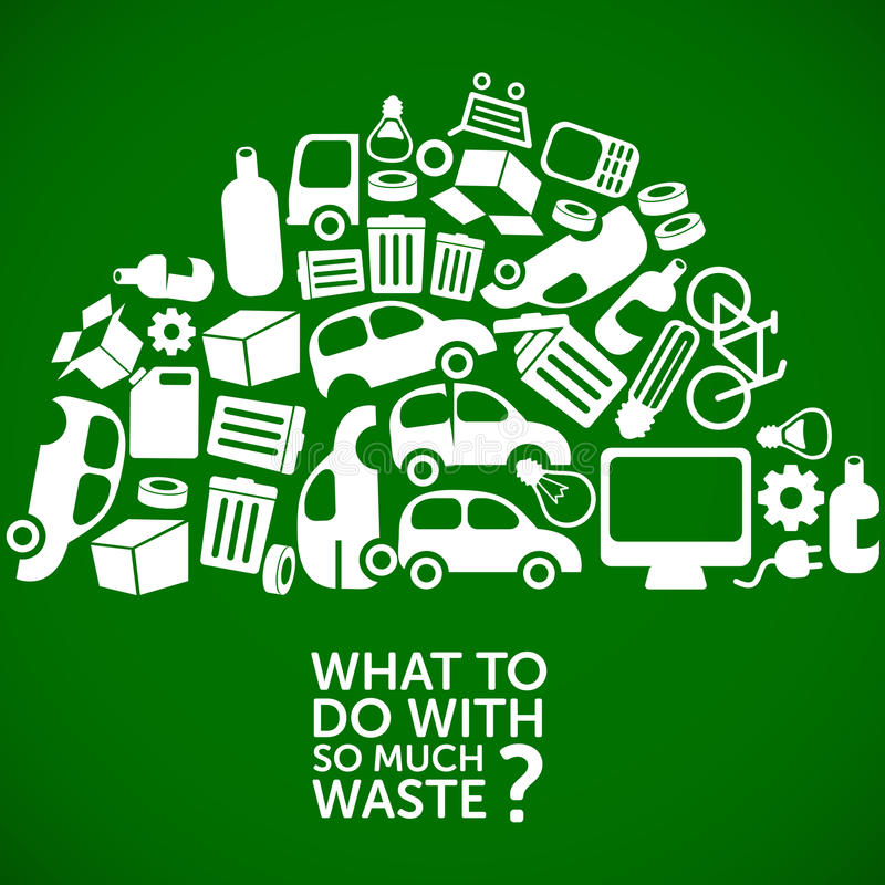 Infographics экологичности - обработка отходов иллюстрация штока