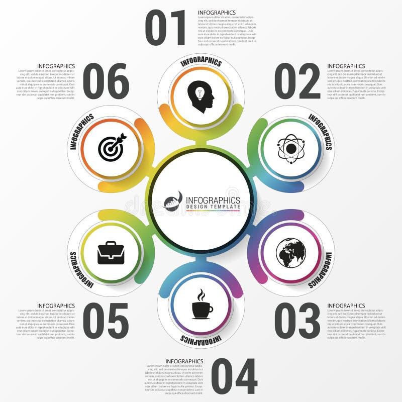 Infographics 与6个选择的企业概念 皇族释放例证