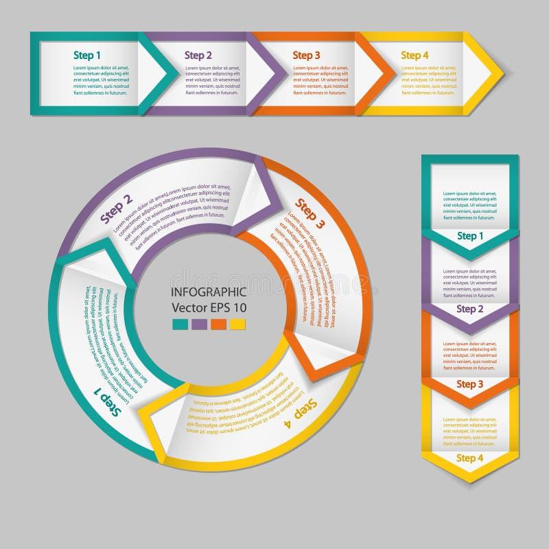 Infographics 工艺卡片模块 皇族释放例证