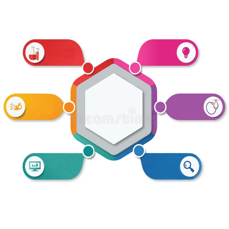 Infographics –开放创新或全球性有活力的市场研究报告 库存例证