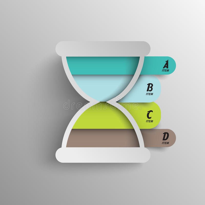 Infographics间隔时间模板图元素 库存例证