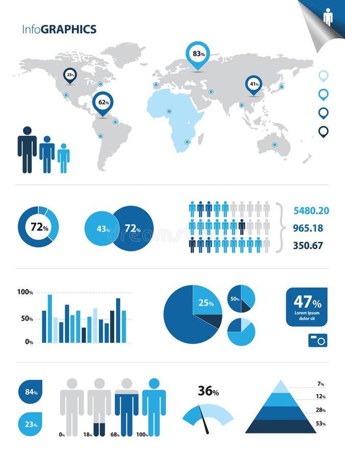 Infographics 皇族释放例证