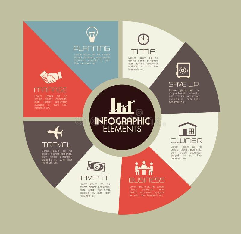 Infographics illustrazione di stock