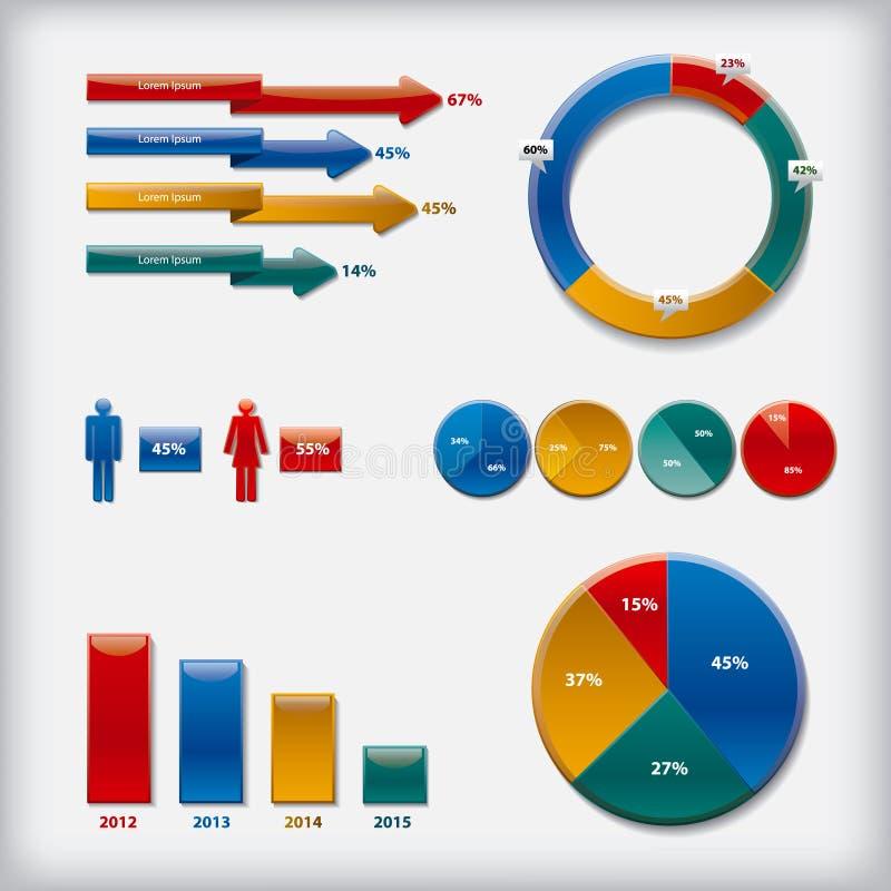 Infographics royalty ilustracja