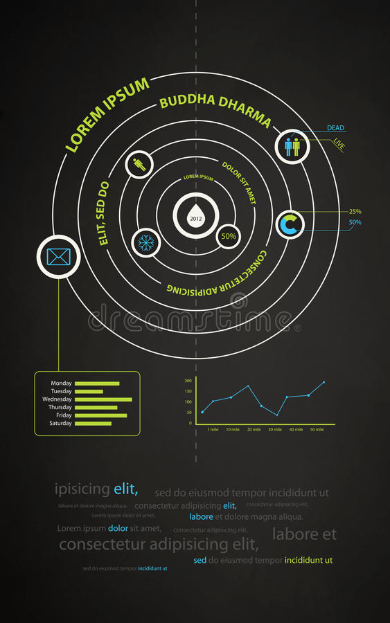 Infographics Abstract Presentation Of Business Royalty Free Stock Images