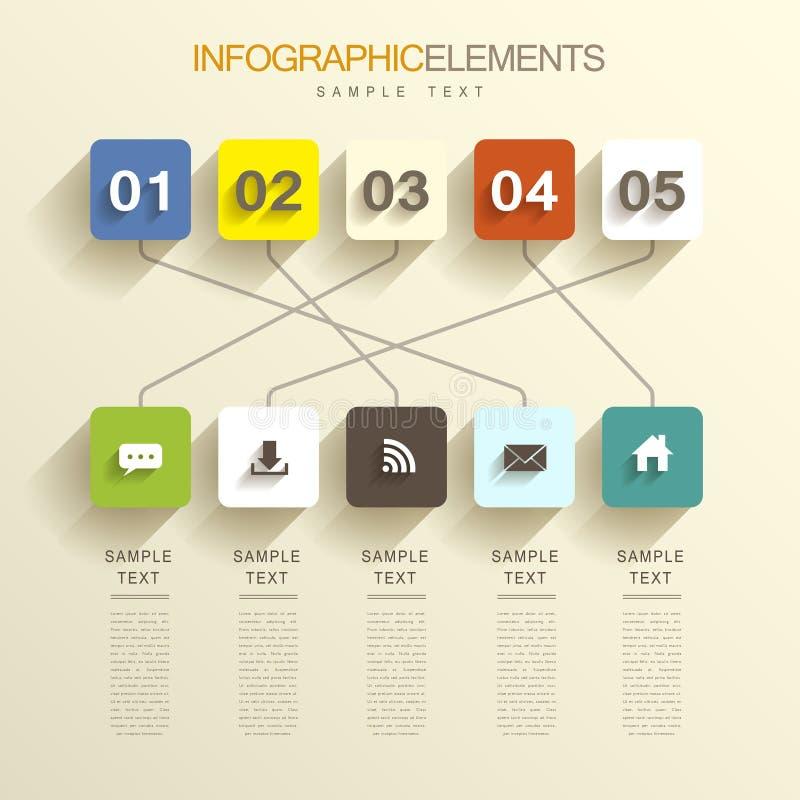 Infographics abstracto ilustración del vector