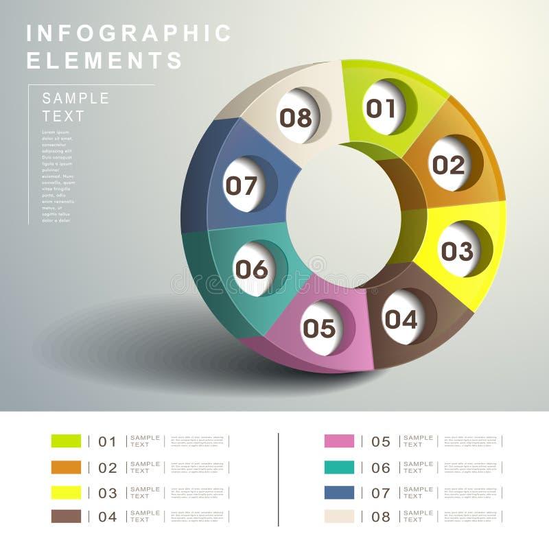 Infographics abstracto de 3d Dialpad libre illustration