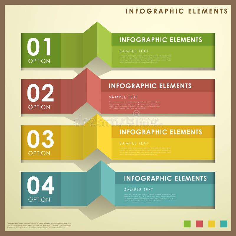 Infographics abstracto de la bandera ilustración del vector
