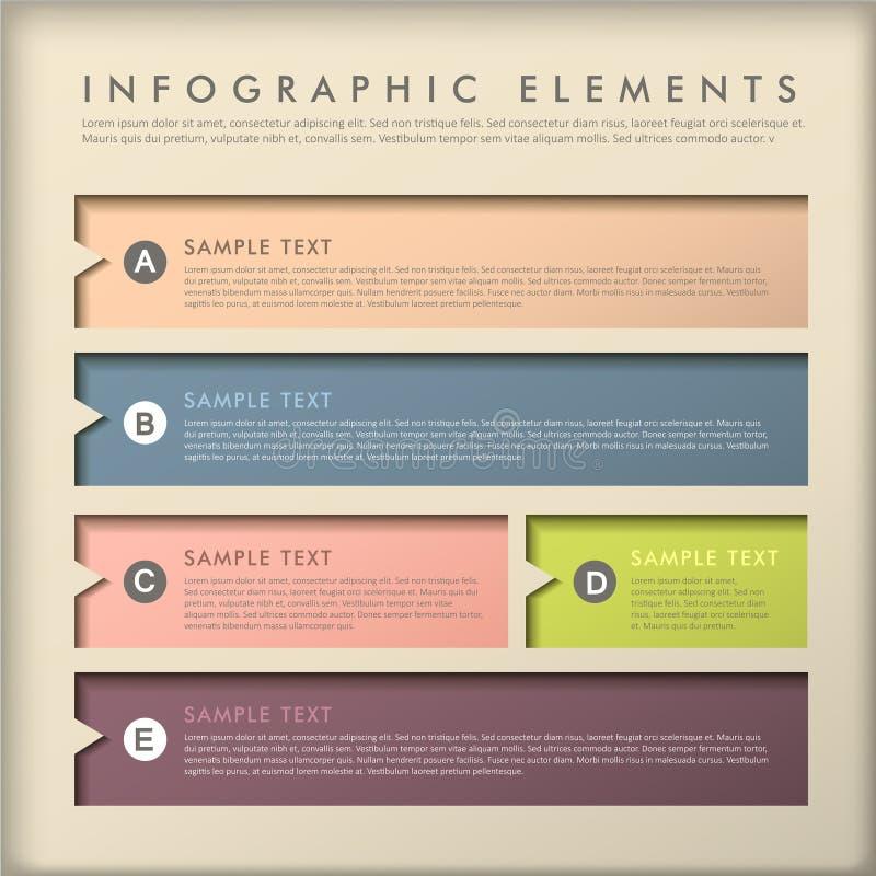 Infographics abstracto de la bandera stock de ilustración