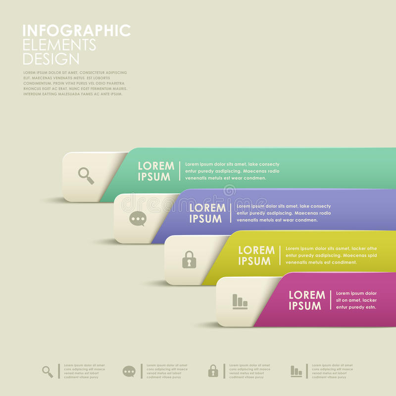 Infographics abstracto de la bandera libre illustration
