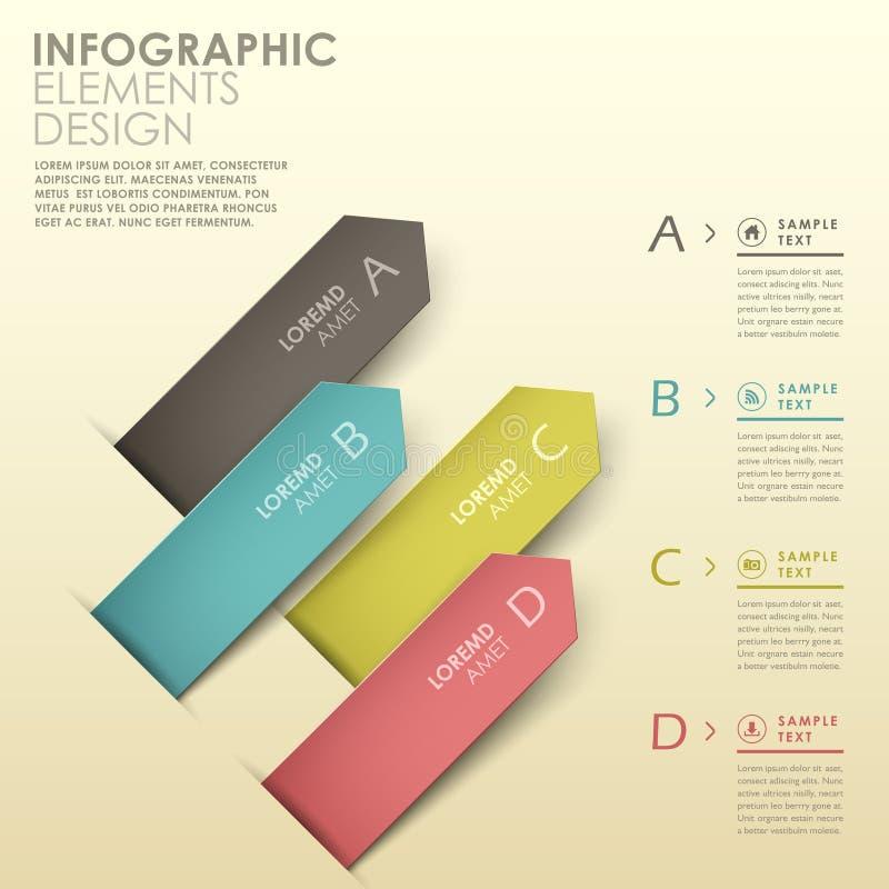 Infographics abstracto de la barra de la flecha 3d stock de ilustración