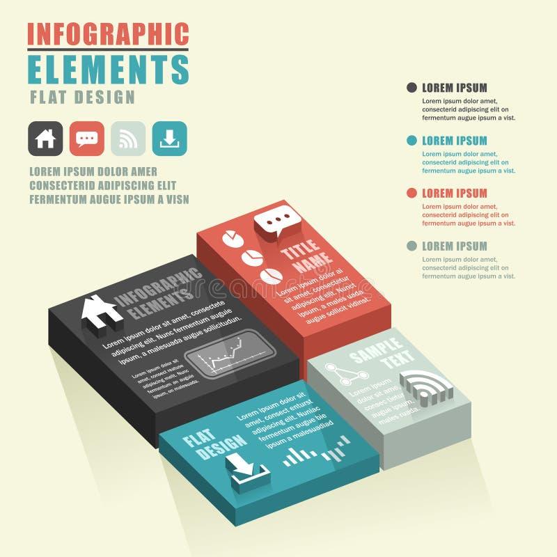 Infographics abstracto de la carta libre illustration