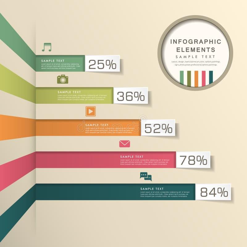 Infographics abstracto de la carta de barra ilustración del vector