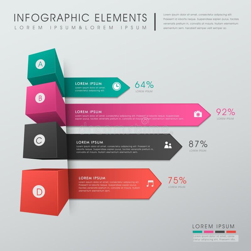 Infographics abstracto de la carta de barra stock de ilustración