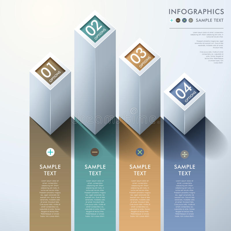 Infographics abstracto de la carta de barra 3d ilustración del vector