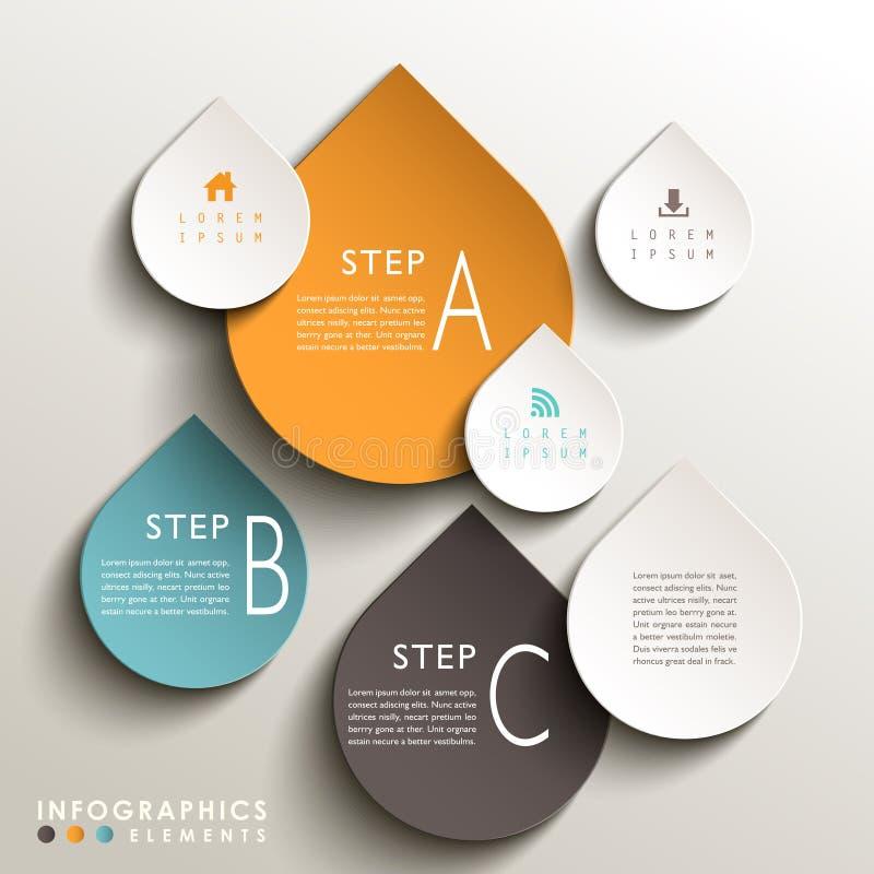 Infographics abstracto de la etiqueta 3d libre illustration