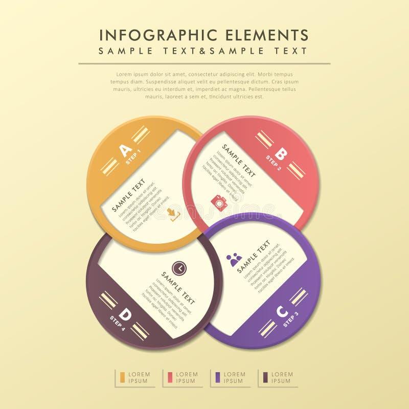 Infographics abstracto de la etiqueta del círculo stock de ilustración