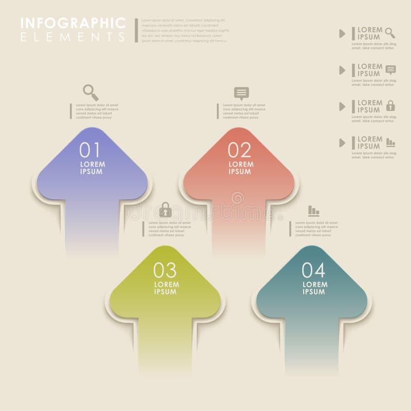 Infographics abstracto de la flecha ilustración del vector